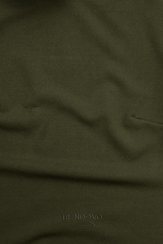 Khaki top s dlouhými rukávy