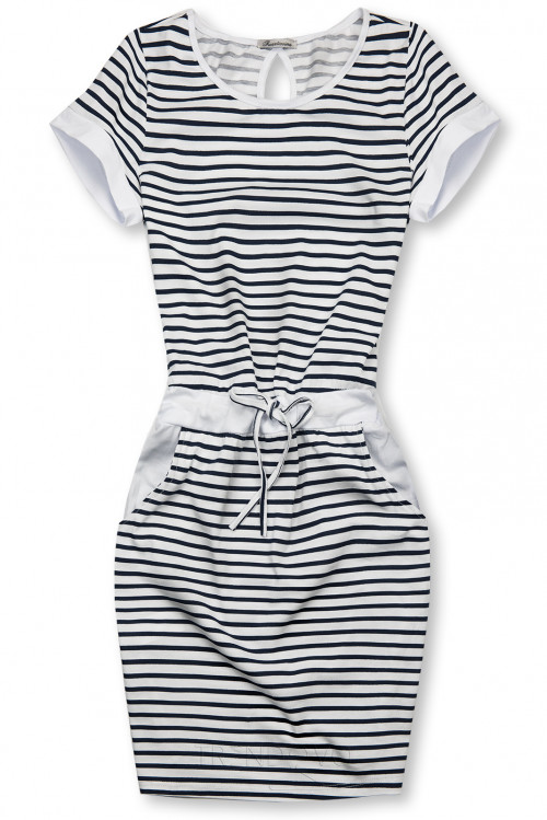 Modro-bílé pruhované šaty III.
