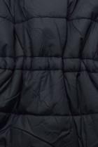 Tmavě modrá/hnědá oboustranná zimní parka