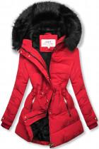 Červená-černá zimní bunda