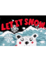 Černý svetr LET IT SNOW