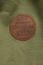 Prodloužená mikina s kapucí khaki/šedá