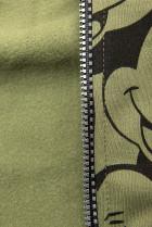 Khaki tepláková souprava s potiskem