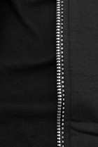 Tepláková souprava s kapucí černá
