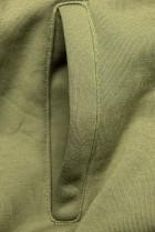 Khaki tepláková souprava s nášivkou